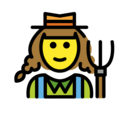 Woman Farmer on OpenMoji 12.2