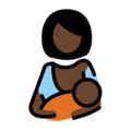 Breast-Feeding: Dark Skin Tone on OpenMoji 12.3