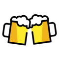 Clinking Beer Mugs on OpenMoji 12.3