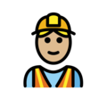 Construction Worker: Medium-Light Skin Tone on OpenMoji 12.3