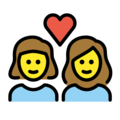 Couple with Heart: Woman, Woman on OpenMoji 12.3