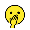 Face with Hand Over Mouth on OpenMoji 12.3