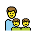 Family: Man, Boy, Boy on OpenMoji 12.3