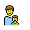 Family: Man, Boy on OpenMoji 12.3