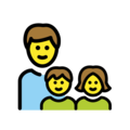 Family: Man, Girl, Boy on OpenMoji 12.3