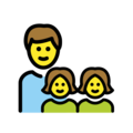 Family: Man, Girl, Girl on OpenMoji 12.3