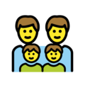 Family: Man, Man, Boy, Boy on OpenMoji 12.3