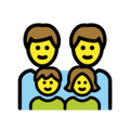 Family: Man, Man, Girl, Boy on OpenMoji 12.3