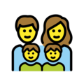 Family: Man, Woman, Boy, Boy on OpenMoji 12.3