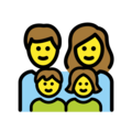 Family: Man, Woman, Girl, Boy on OpenMoji 12.3