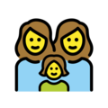 Family: Woman, Woman, Girl on OpenMoji 12.3