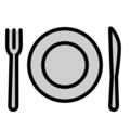 Fork and Knife with Plate on OpenMoji 12.3
