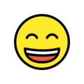 Grinning Face with Smiling Eyes on OpenMoji 12.3