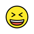 Grinning Squinting Face on OpenMoji 12.3