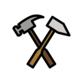 Hammer and Pick on OpenMoji 12.3