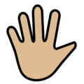 Hand with Fingers Splayed: Medium-Light Skin Tone on OpenMoji 12.3