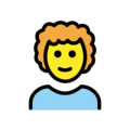 Man: Curly Hair on OpenMoji 12.3