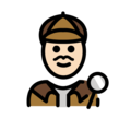 Man Detective: Light Skin Tone on OpenMoji 12.3