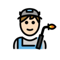 Man Factory Worker: Light Skin Tone on OpenMoji 12.3