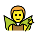 Man Fairy on OpenMoji 12.3