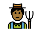 Man Farmer: Medium-Dark Skin Tone on OpenMoji 12.3