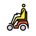 Man in Motorized Wheelchair on OpenMoji 12.3