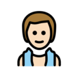 Man in Steamy Room: Light Skin Tone on OpenMoji 12.3