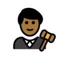 Man Judge: Medium-Dark Skin Tone on OpenMoji 12.3
