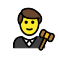 Man Judge on OpenMoji 12.3