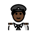 Man Pilot: Dark Skin Tone on OpenMoji 12.3