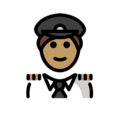 Man Pilot: Medium Skin Tone on OpenMoji 12.3
