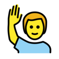 Man Raising Hand on OpenMoji 12.3