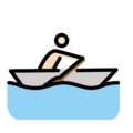 Man Rowing Boat: Light Skin Tone on OpenMoji 12.3