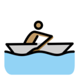 Man Rowing Boat: Medium Skin Tone on OpenMoji 12.3