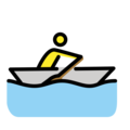 Man Rowing Boat on OpenMoji 12.3