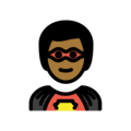 Man Superhero: Medium-Dark Skin Tone on OpenMoji 12.3