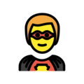 Man Superhero on OpenMoji 12.3