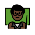Man Teacher: Dark Skin Tone on OpenMoji 12.3
