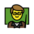 Man Teacher on OpenMoji 12.3