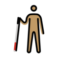 Man with White Cane: Medium Skin Tone on OpenMoji 12.3