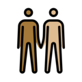 Men Holding Hands: Medium-Dark Skin Tone, Medium-Light Skin Tone on OpenMoji 12.3