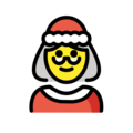Mrs. Claus on OpenMoji 12.3