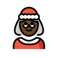 Mrs. Claus: Dark Skin Tone on OpenMoji 12.3