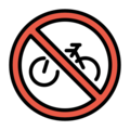 No Bicycles on OpenMoji 12.3