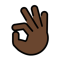 OK Hand: Dark Skin Tone on OpenMoji 12.3