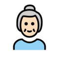 Old Woman: Light Skin Tone on OpenMoji 12.3