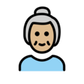 Old Woman: Medium-Light Skin Tone on OpenMoji 12.3