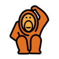 Orangutan on OpenMoji 12.3