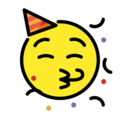 Partying Face on OpenMoji 12.3