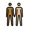 People Holding Hands: Medium-Dark Skin Tone, Medium-Light Skin Tone on OpenMoji 12.3